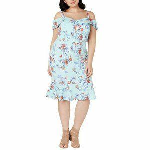 Love Squared 1X Aqua Slate Dress NWT CE58-9